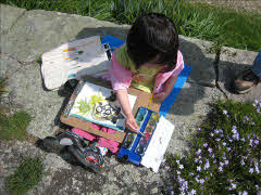 Picture of Alexandria Wong's Daughter Painting in the Park