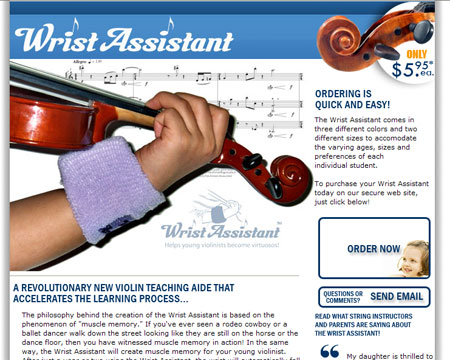 PIcture of Wrist Assistant Website