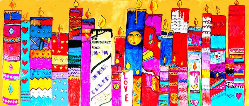 Kids candles mural for Children s mural artist