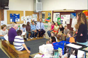 Classroom Meetinag with TIC Coordinator Before Eggs Arrive