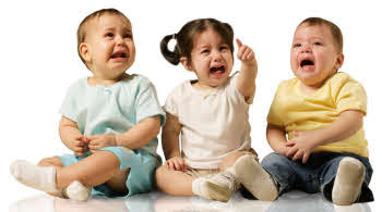 Picture of Three Babies Crying