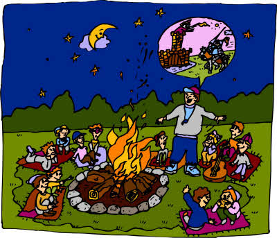 Cartoon of Campfire Stories